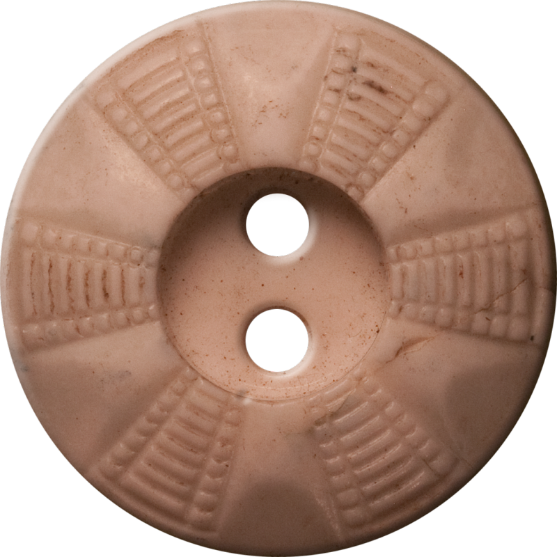 Button with Radial Grid Design, Beige