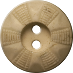Button with Radial Grid Design, Ivory