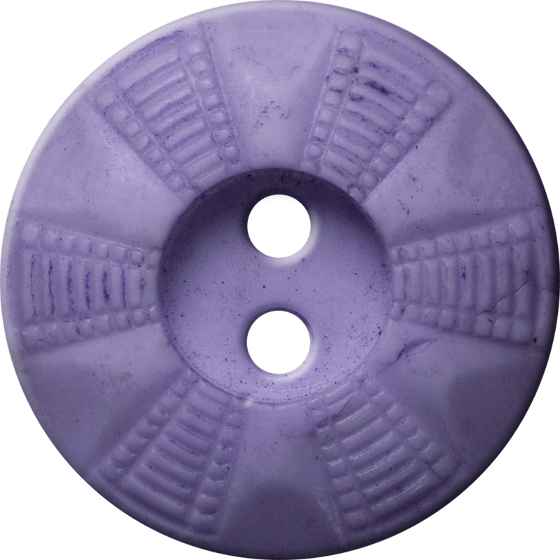 Button with Radial Grid Design, Lavender