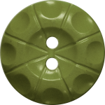Button with Radial Line and Circle Design, Avocado