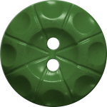 Button with Radial Line and Circle Design, Green