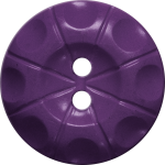 Button with Radial Line and Circle Design, Purple