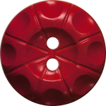 Button with Radial Line and Circle Design, Red
