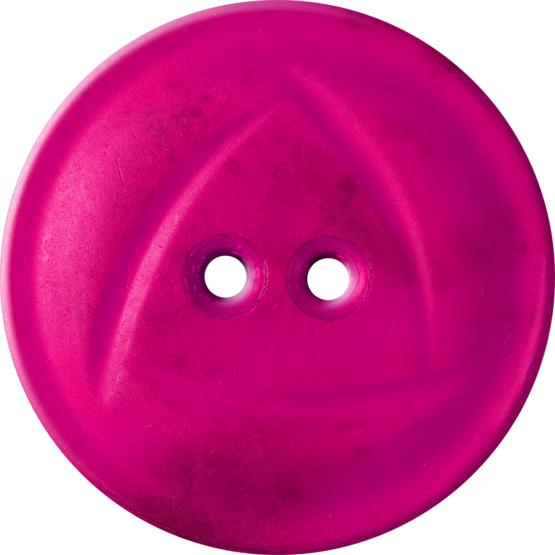 Button with  Rounded Triangle Design, Fuschia