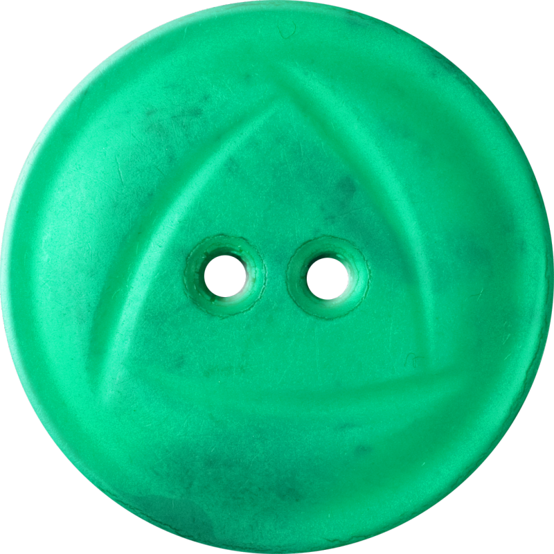 Button with  Rounded Triangle Design, Green