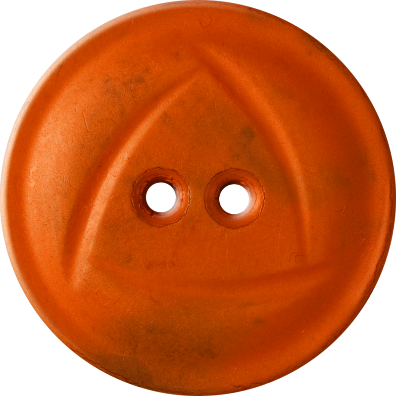Button with  Rounded Triangle Design, Orange
