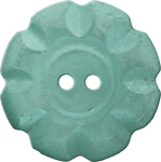 Button with Scalloped Border, Blue-Green