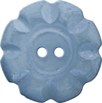 Button with Scalloped Border, Blue