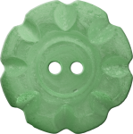 Button with Scalloped Border, Green