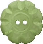 Button with Scalloped Border, Yellow-Green