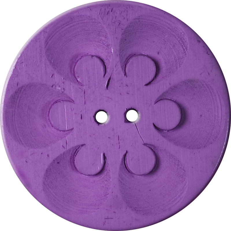 Button with Six Circles within Circles, Purple