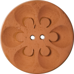 Button with Six Circles within Circles, Terracotta