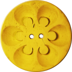 Button with Six Circles within Circles, Yellow