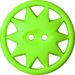Button with Ten-Pointed Star Inscribed in a Circle, Chartreuse