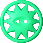 Button with Ten-Pointed Star Inscribed in a Circle, Green