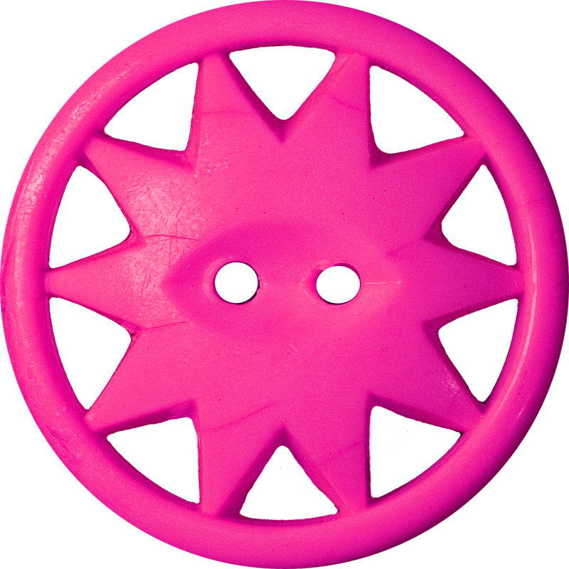 Button with Ten-Pointed Star Inscribed in a Circle, Magenta