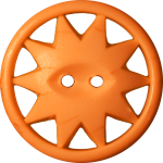 Button with Ten-Pointed Star Inscribed in a Circle, Orange