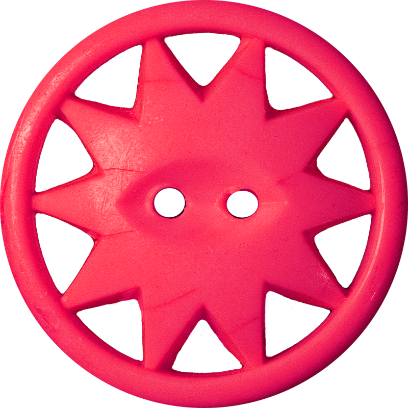 Button with Ten-Pointed Star Inscribed in a Circle, Red