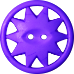 Button with Ten-Pointed Star Inscribed in a Circle, Violet