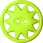 Button with Ten-Pointed Star Inscribed in a Circle, Yellow-Green
