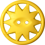 Button with Ten-Pointed Star Inscribed in a Circle, Yellow