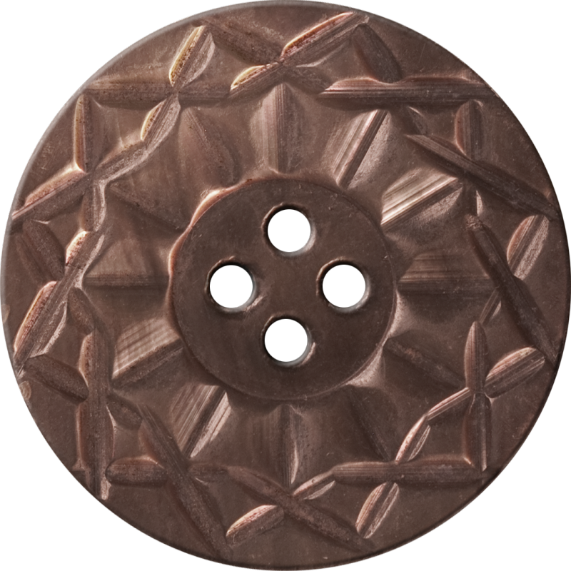 Button with Twelve-Pointed Intertwining Border, Brown