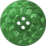 Button with Twelve-Pointed Intertwining Border, Green