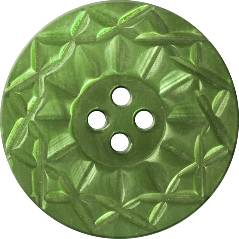 Button with Twelve-Pointed Intertwining Border, Light Green
