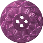 Button with Twelve-Pointed Intertwining Border, Red-Violet