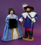 Canada Dolls Depicting Early Canadian Governor and His Wife (Full View)