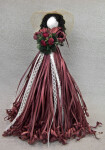Canada Female Doll Handcrafted from Styrofoam and Raffia Ribbons (Full View)