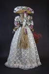 Canada Ontario Tall Doll Made from Straw Wearing Straw Hat with Colorful Lining (Back View)