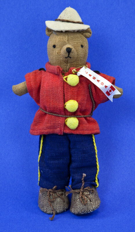 Canadian Bear Dressed as a Member of the Royal Canadian Mounted Police (Full View)