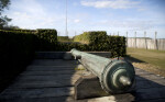 Cannon on a Wooden Firing Step