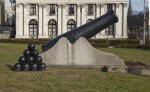 Cannon Outside of Soliders and Sailors' Memorial Hall