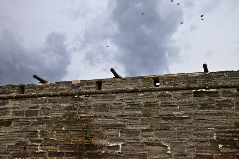 Cannons on the Curtain Wall of Castillo de San Marcos