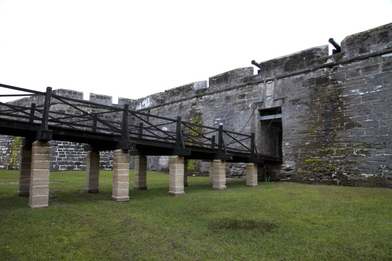 Cannons Pointing through Embrasure above the Main Gate