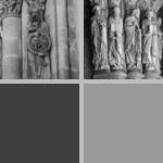 Capitals with interlacing foliage photographs
