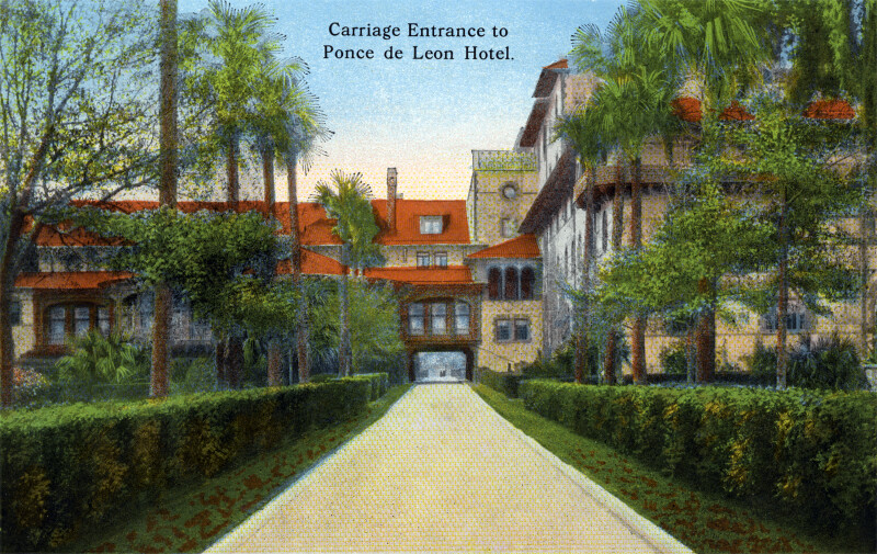 Carriage Entrance to the Hotel Ponce de Leon