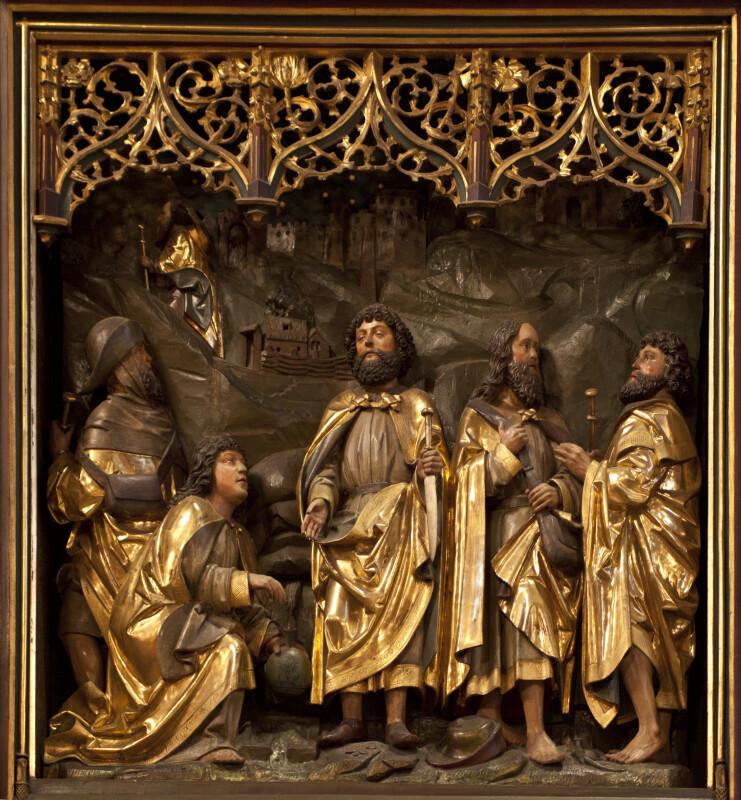 Carved Wooden Altarpiece at Frankfurt Cathedral