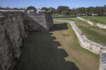 Castillo de San Marcos Main Wall and Moat
