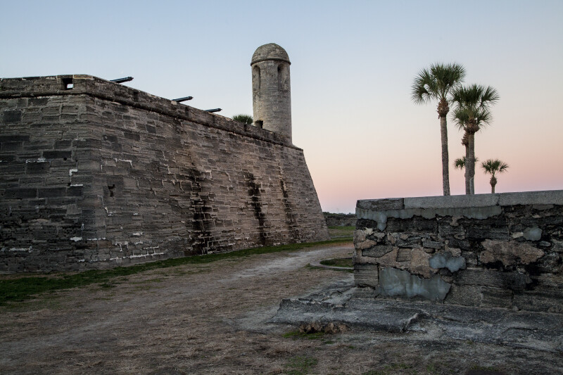 Castillo de San Marcos' Main Watch Tower Extending from the St. Charles Bastion