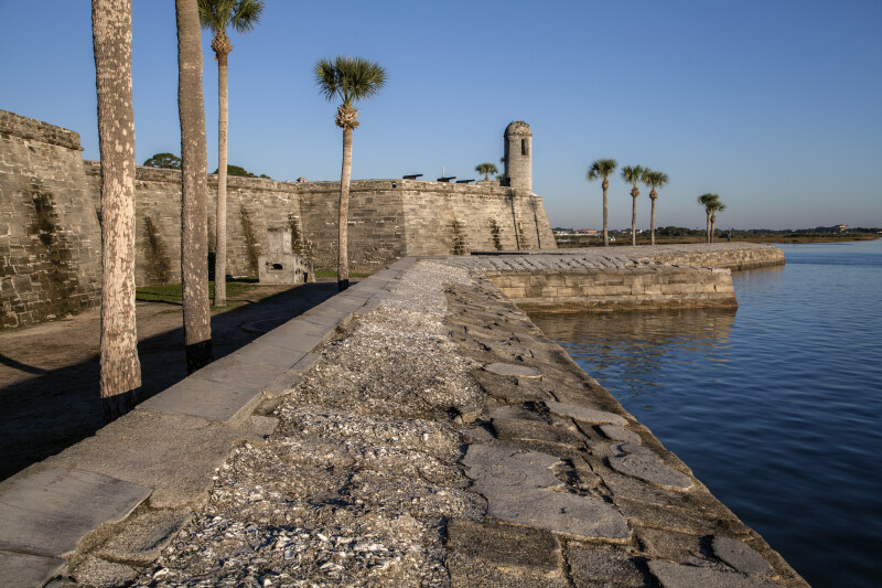 Castillo de San Marcos' Main Watch Tower from the Sea Wall
