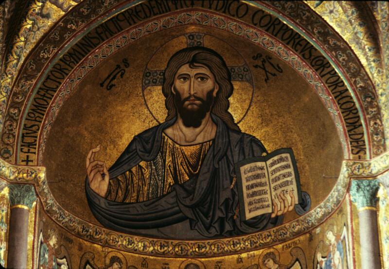 Cefalù cathedral, mosaics, apse, Pantocrator
