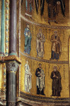 Cefalù cathedral, mosaics, apse wall, apostles and evangelists