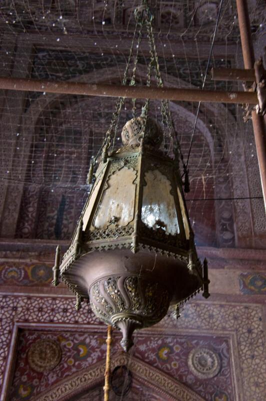 Ceiling Light Fixture Inside the Jami Masjid