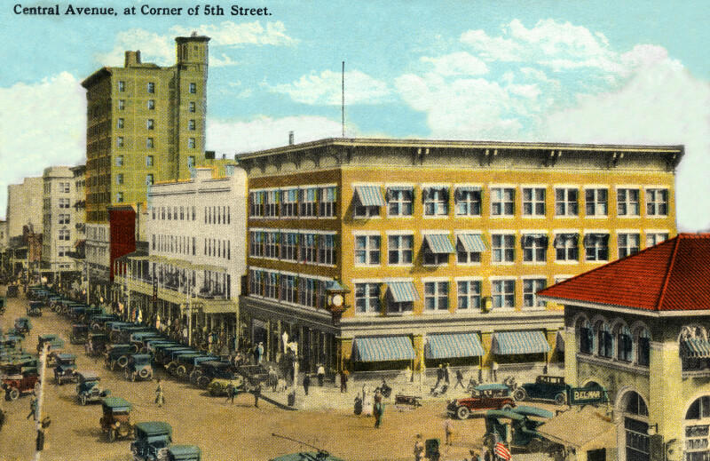 Central Avenue, at the Corner of 5th Street