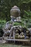 Ceramic Pot Above a Waterfall at the Villa Borghese Gardens