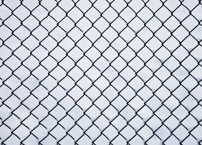 Chainlink Fence in the Snow