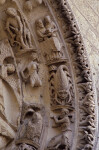 Chartres Cathedral, Ascension portal, archivolts, March, Aquarius, February, December, Scorpio, November